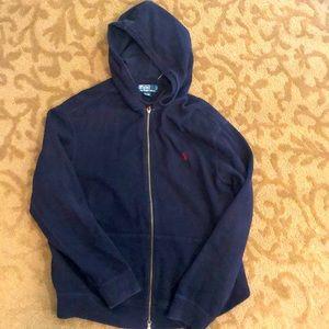 Polo by Ralph Lauren double knit full zip hoodie